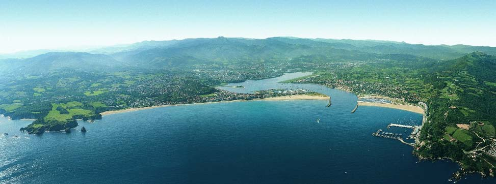 Vista aérea de la Bahia de Txingudi