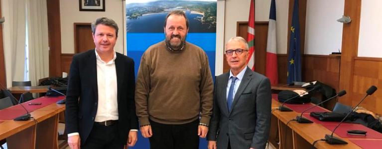 Les trois maires du Consorcio